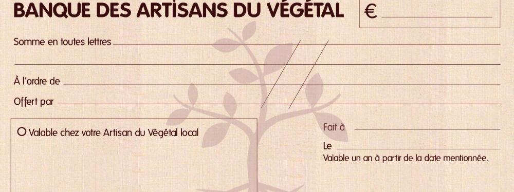 Le Chèque en bois des Artisans du Végétal
